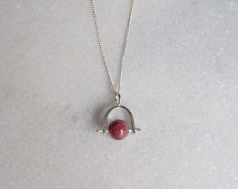 Gemstone Swing - sterling silver and Ruby- by Sticktails