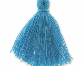 30mm blue cotton tassel