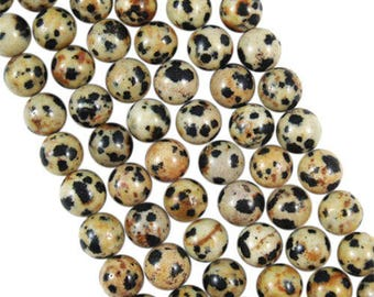 10 x 4mm DALMATIAN Jasper round beads