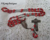 Vintage rosary beads Lucite