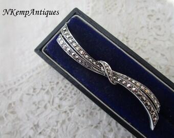 Silver marcasite brooch 1930's