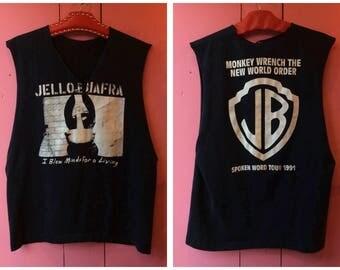 """Vintage 1991 Jello Biafra """"Spoken Word"""" Tour Sleeveless T Shirt"""