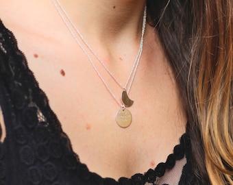 KERLI 925 Silver necklace, Moon