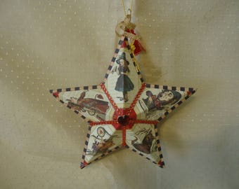 Alice in Wonderland Hanging Star Ornament