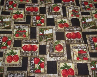 Amazing Fall Table Runner In Apple Print, Apple Table Runner, Fabric Table Runner,  Table
