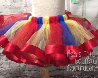 circus tutu, circus party tutu, circus birthday skirt, circus birthday tutu, clown tutu, clown costume, clown birthday tutu, spin top tutu