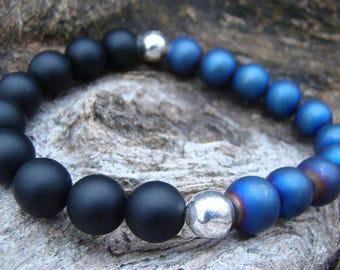 Natural gemstone stretch bracelets