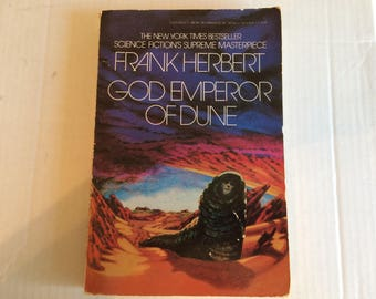 God Emperor of Dune - paperback novel by Frank Herbert - 1982 Berkley Books edition - science fiction - very good used condition