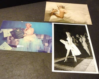 Three Marilyn Monroe Postcards-2 color - 1 black and white
