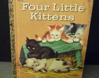 Four Little Kittens- A Little Golden Book - 1974