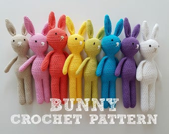 Crochet Rabbit Pattern, Amigurumi Bunny Pattern, Crochet Bunny Pattern - PDF File only, NOT Finished Product
