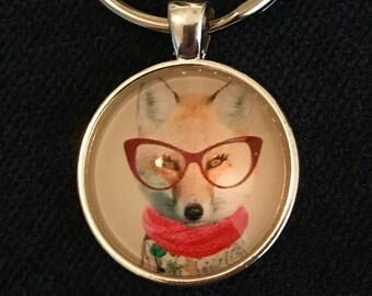 Fox Keychain Fox Gift