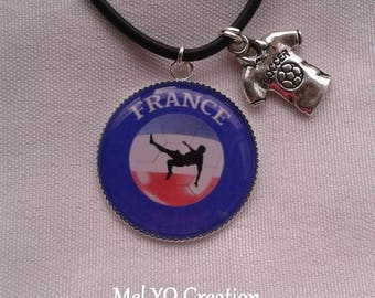Fans of blue leather cord necklace