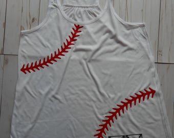 Custom Designed Baseball Stitches Tank