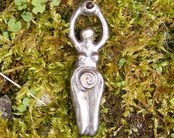 Earth Mother, Goddess, Bronze Pendant, Earthmother, Fertility, Spiritual, Wicca, Wiccan, Witch, Venus, Pagan. by the Green Man