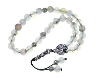 D-0108 - Worry Beads / Prayer Beads 8mm Natural Agate Gemstone Beads Handmade by Jeannieparnell