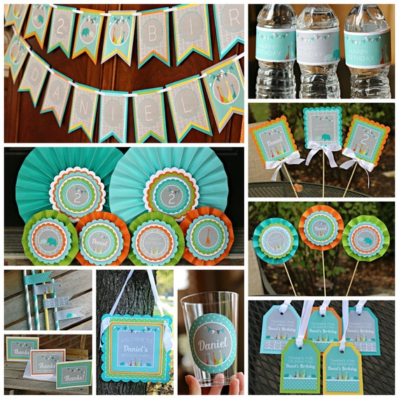 ZOO BIRTHDAY PARTY Decorations Zoo Party Box Zoo Party Package