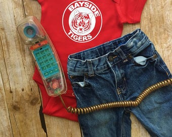 Bayside Tigers - Saved By The Bell - 90s Throwback  - Baby Bodysuit, Baby T-Shirt, Toddler T-Shirt