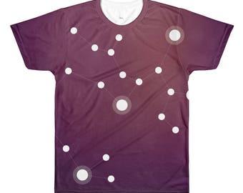All-Over Printed T-Shirt - Zodiac Sagittarius Constellation All-Over T-Shirt