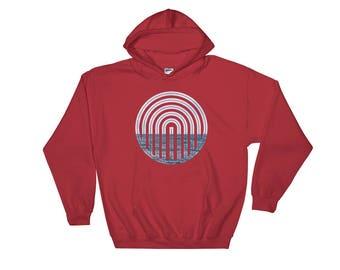Hooded Sweatshirt - Red Silo Graphic Hooded Sweatshirt