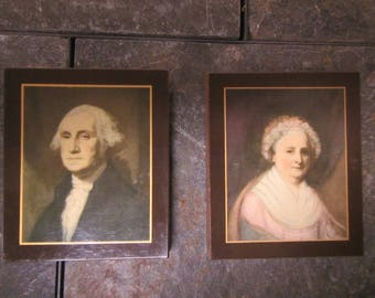 Pyraglass George and Martha Washington Pictures, ** 3  1/2 by 4 inches