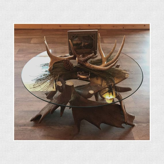 Moose Antler Coffee Table On Sale