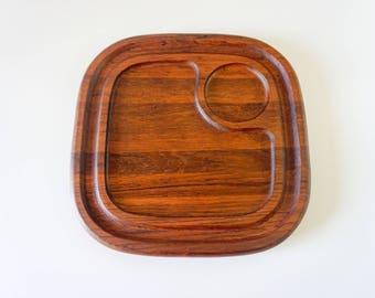 Vintage Baker Hart & Stuart Teak Wood serving board cheese tray