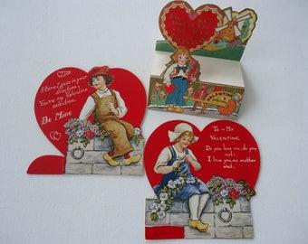 Vintage Valentine Cards  (Lot of 3)