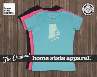 Rhode Island Home. T-shirt- Women's Relaxed Fit