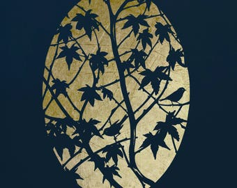 Maple Tree Stencil for Walls & Art,  ST31