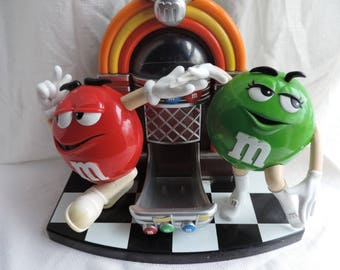 M&M's Jukebox Rock n Roll Café Jukebox Candy Dispenser Collectible | #RePurpose | #ReDid | #Refashion | #ReEarth |#ReUse | #Ethical |