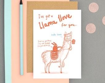 I've got a Llama llove for you Valentines card