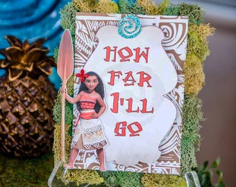 Moana dessert sign- moana table sign