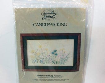 Vintage Candamar Designs Candle Wicking kit 80154 Butterfly Spring Picture Something Special Sealed 1984