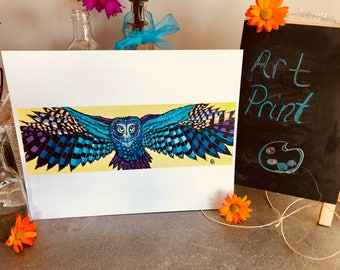 "11""x14"" Art Print Owl"