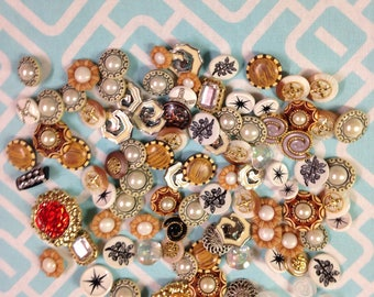 Lot 93 Fancy New Buttons Acrylic MUST See Large Shank Sew Craft Jewelry