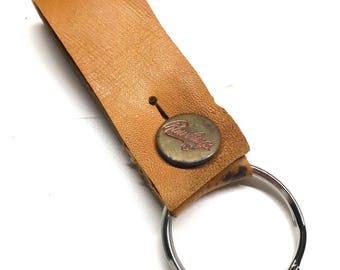 Repurposed Rawlings Baseball Glove Leather Key Fob