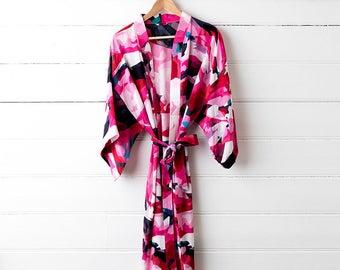 Printed Silk Dressing Gown - Frankie