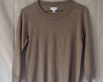 Vintage J. Crew Beige 3/4 Sleeve Sweater