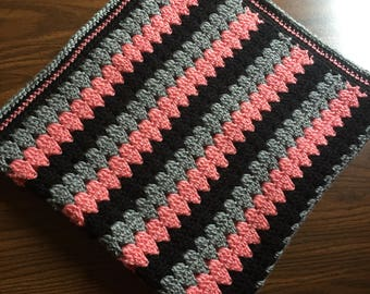 Modern Granny Stripe baby blanket