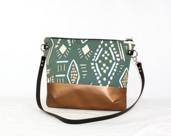 Mexico copper Crossdiv bag with leather handles