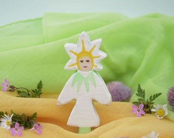 Flower Child Marguerite, Nature Table, Wooden Toys, Wood, Deco