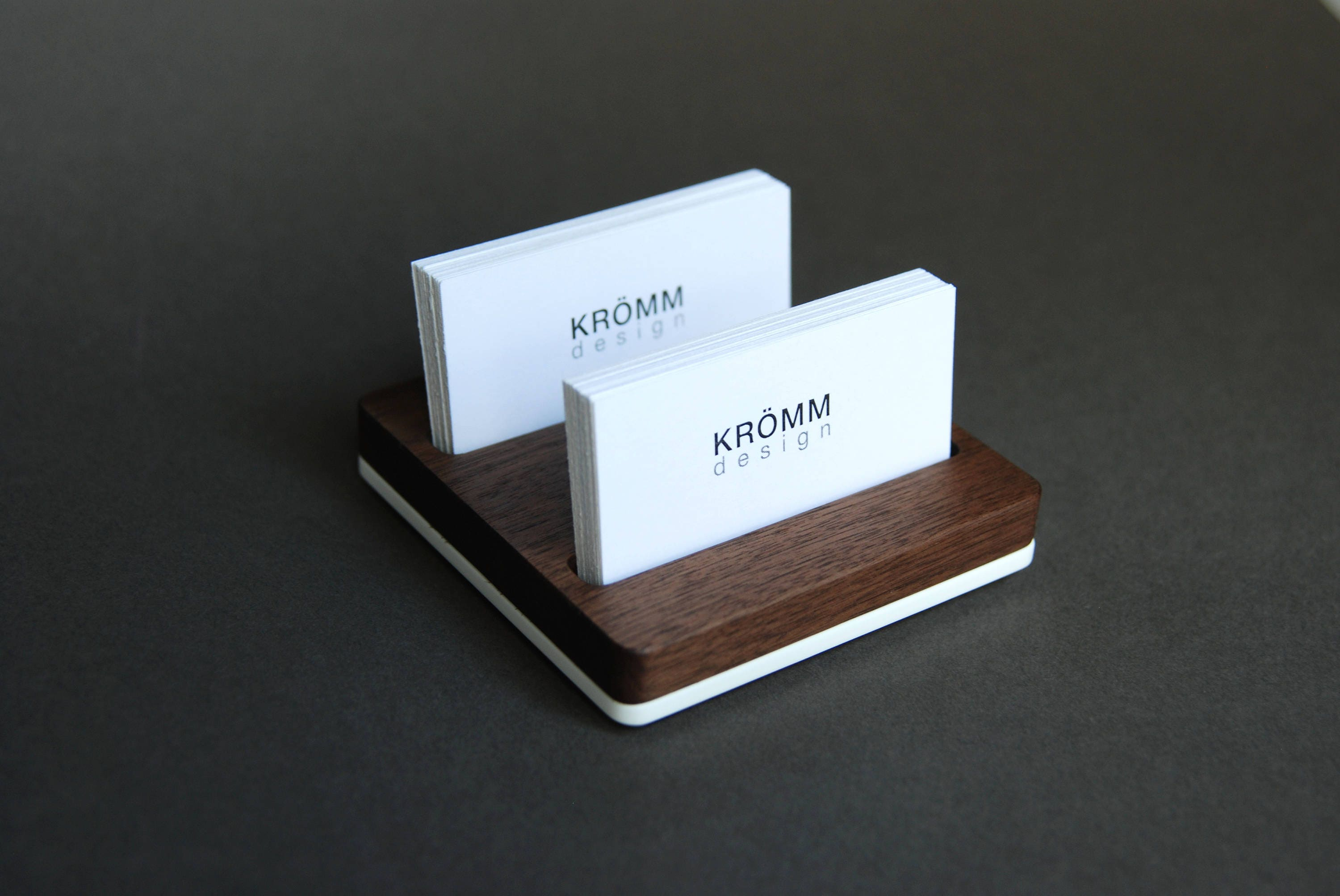 Wood two row business card holder for front desk wood business gallery photo gallery photo gallery photo magicingreecefo Image collections