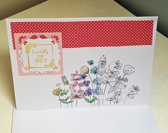 Flowers Blank Card