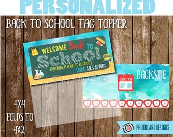 Welcome Back to SCHoOL Treat Bag Topper, Teacher Class Printable, School Printable, Welcome Back to School tag, Treat Bag, Candy Treat tag