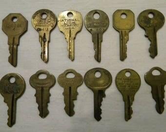Vintage   Keys - Old  Keys  - Steampunk - Altered Art - Mixed Media - Jewelry & Craft Supplies