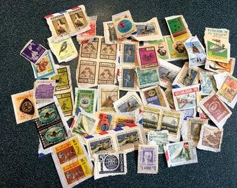 Vintage Ecuador Stamps