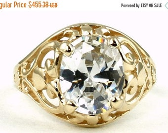 On Sale, 30% Off, Cubic Zirconia, 14KY Gold Ring, R004