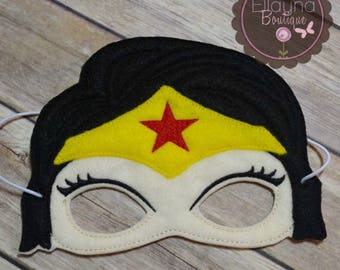 Felt Mask - Wonder Woman inspired