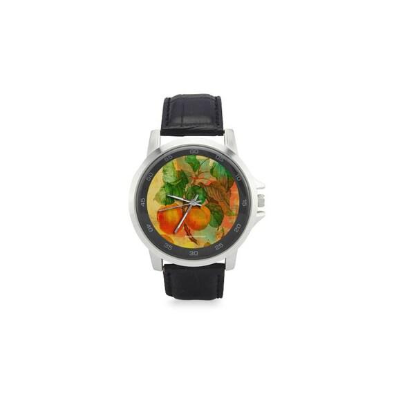 Botanical apricot watch